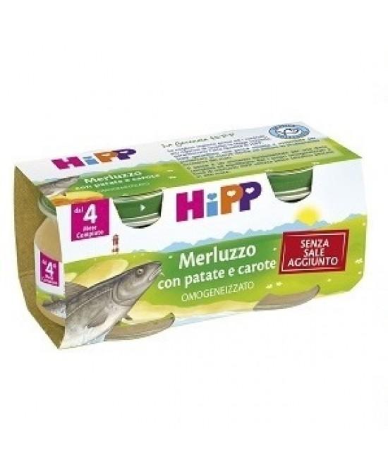 HiPP Omogeneizzato Merluzzo Con Patate E Carote 2x80g - Zfarmacia