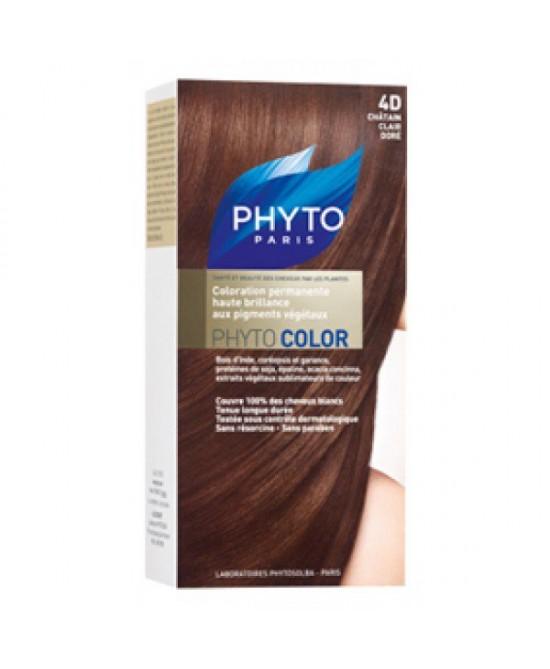 Phyto Phytocolor Colorazione Permanente Nuance 4D Castano Chiaro Dorato - Farmacia 33