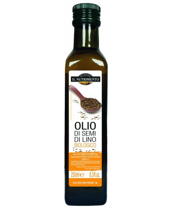 Il Nutrimento Olio Di Semi Di Lino Biologico Alimentare 250ml - FARMAEMPORIO