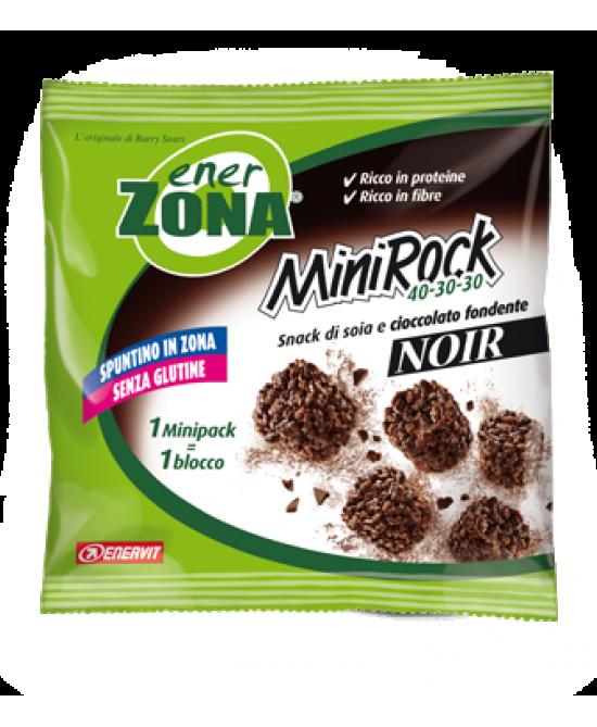 Enervit EnerZona MiniRock 40-30-30 Noir Snack Di Soia E Cioccolato Fondente 5 Biscotti 24g - Zfarmacia