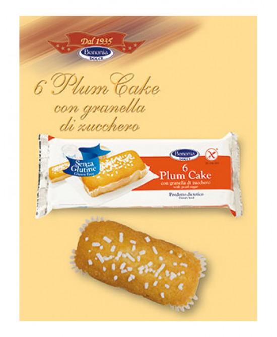 Bononia Plum Cake Con Granella Di Zucchero Senza Glutine 222g 6 Pezzi - FARMAEMPORIO