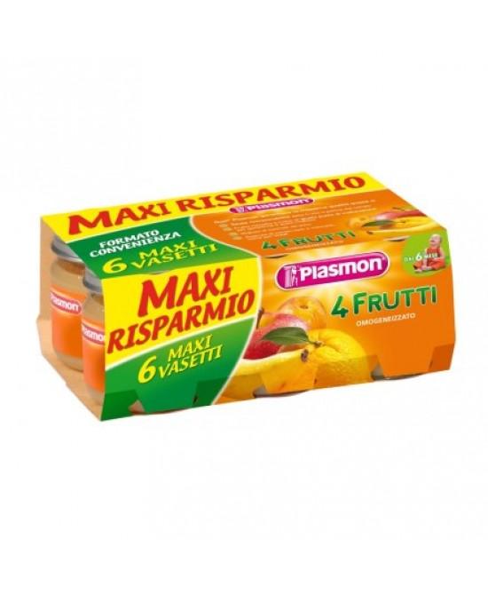 Plasmon Omogeneizzato Di Frutta 4 Frutti  6x104g - Parafarmaciabenessere.it