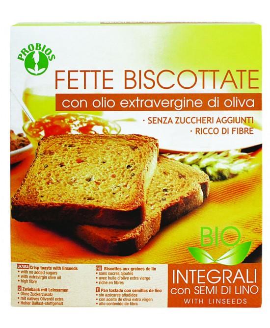 Probios Fette Biscottate Integrali Con Semi Di Lino Biologico 270g - Farmastar.it