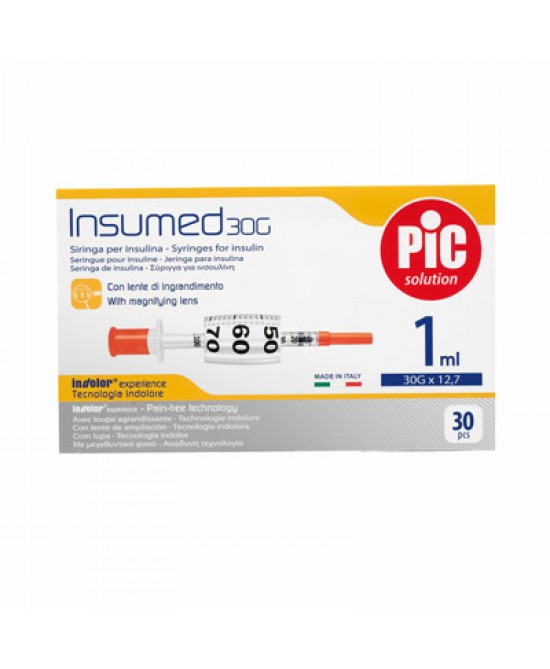 Pic Insumed Siringa Da Insulina Con Ago G26 1ml - FARMAEMPORIO