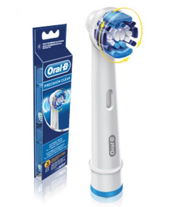 Oral-B  Precision Clean Testine Di Ricambio Per Spazzolino Elettrico 3 Ricambi - Antica Farmacia Del Lago
