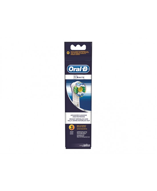 Oral-B 3D White Testine Di Ricambio  3 Pezzi - Zfarmacia