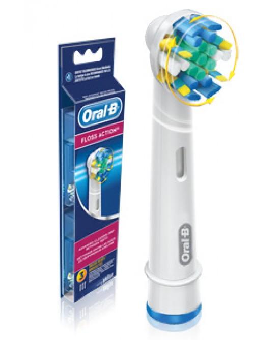Oral-B Floss Action Testine Di Ricambio Per Spazzolino Elettrico 3 Ricambi - Antica Farmacia Del Lago