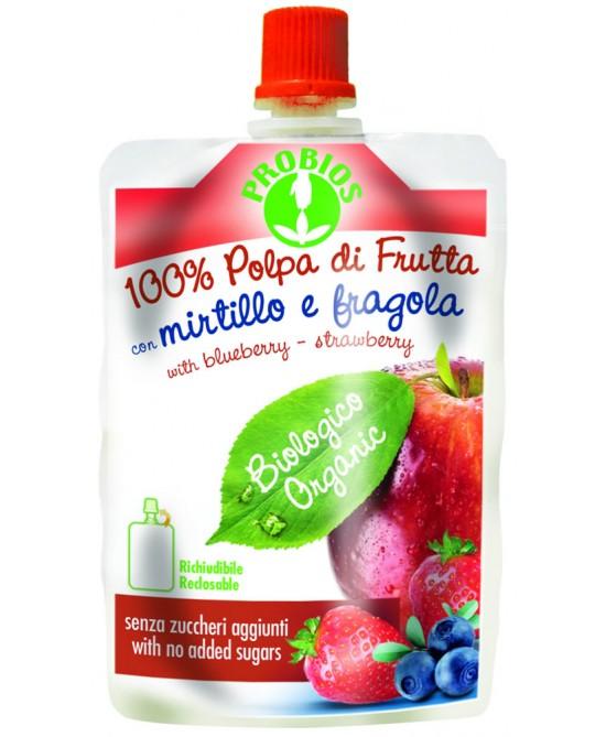 Probios 100% Polpa Mirtillo E Fragola Confezione Doypack Biologico 100g - FARMAEMPORIO