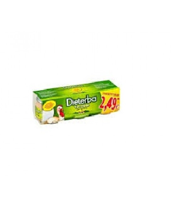 Dieterba Omog Tacchino 3pz 80g - Farmacento
