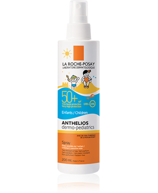 LA ROCHE-POSAY SOLARI ANTHELIOS DERMO-PEDIATRICS SPRAY BAMBINI SPF 50+ 200 ML - Farmastar.it
