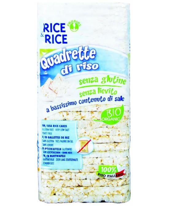 Viva Mais Quadrette Biologiche Di Riso Senza Sale 130g - Farmacento