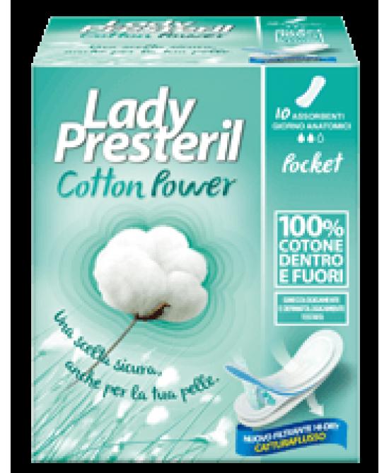 Lady Presteril Cotton Power Anatomici Assorbenti Stesi In Cotone 10 Pezzi - Farmacia 33