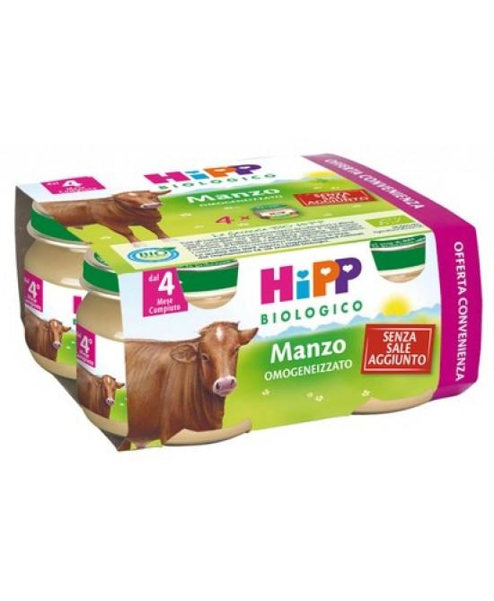 HiPP Biologico Omogeneizzato Manzo 4x80g - Farmacia 33
