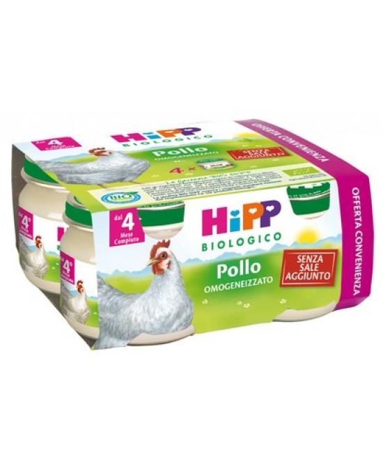 HiPP Biologico Omogeneizzato Pollo 4x80g - Farmacia 33