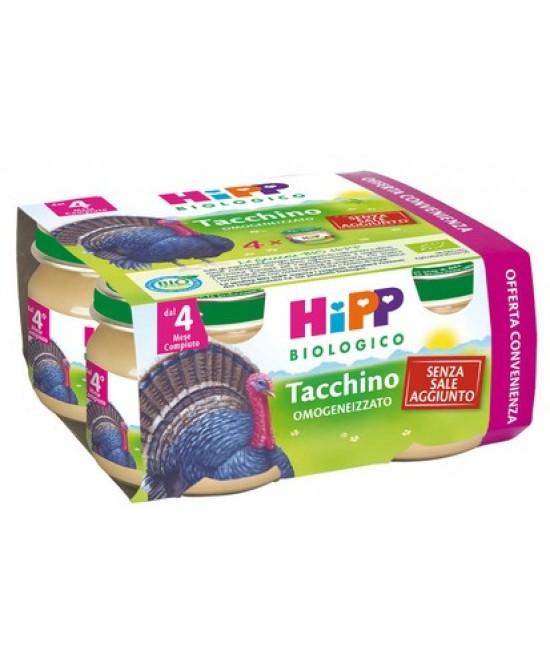 HiPP Biologico Omogeneizzato Tacchino 4x80g - Farmacia 33