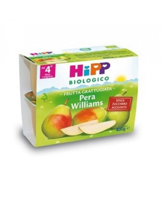 HiPP Biologico Frutta Grattugiata Pera Williams 4x100g - Farmajoy
