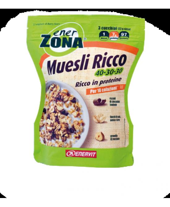 Enervit EnerZona Muesli Ricco 40-30-30 230g - Farmacia 33