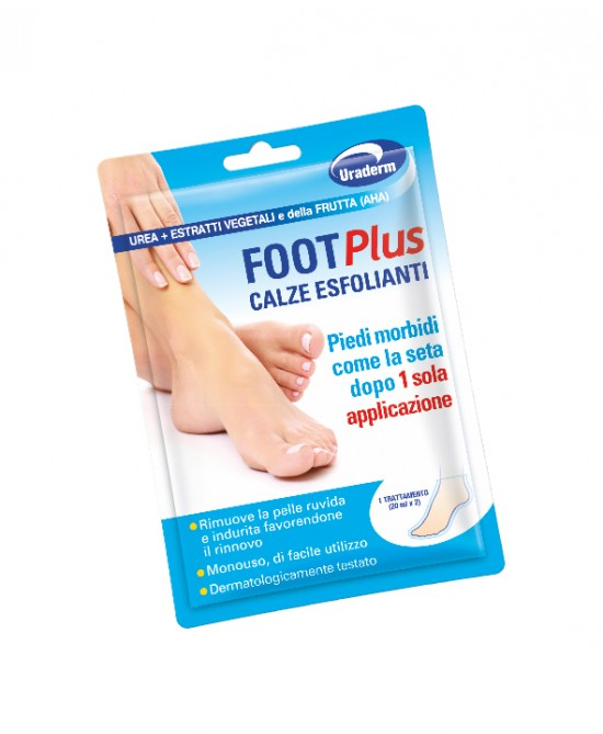 Uraderm Foot Plus Calze Esfolianti  2 Calze - Farmacento