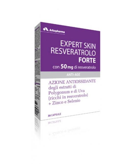 Arkopharma Expert Skin Resveratrolo Forte Integratore Alimentare 30 Capsule - Parafarmaciabenessere.it