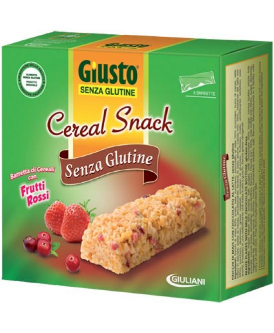 Giusto Cereal Snack Ai Frutti Rossi Senza Glutine 150g - Farmawing