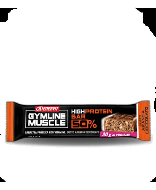 Enervit Gymline Muscle High Protein Bar 50%  Arancia-Cioccolato Barretta 60g - FARMAEMPORIO
