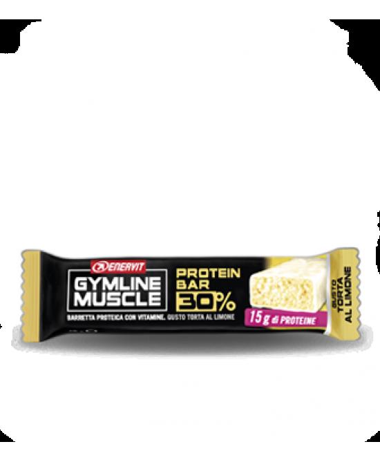 Enervit Gymline Muscle Protein Bar 30% Limone Barretta Proteica 48g - Farmacia 33
