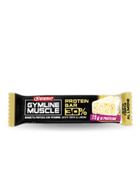 Enervit Gymline Muscle Protein Bar 32% Limone Barretta Proteica 48g  - La tua farmacia online