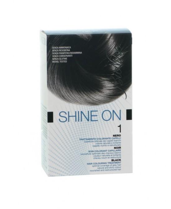 BioNike Shine On Trattamento Colorante Capelli Nero 1 - Farmabravo.it