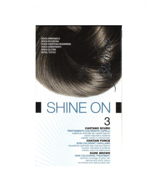BioNike Shine On Trattamento Colorante Capelli Castano Scuro 3 - Farmapc.it
