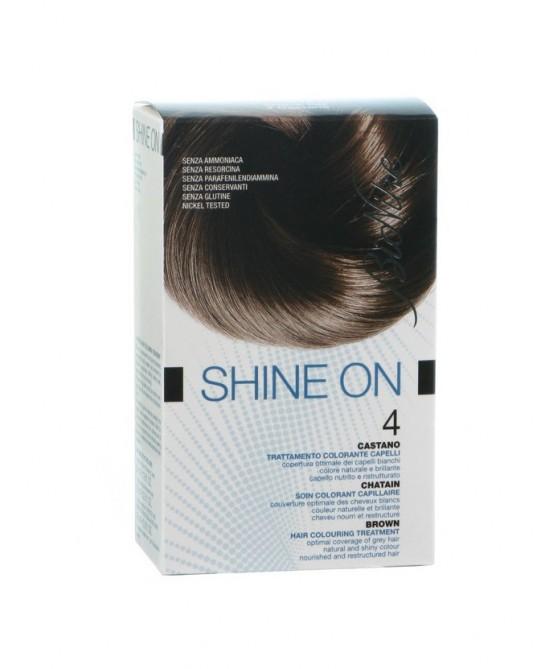 BioNike Shine On Trattamento Colorante Capelli Castano 4 - Farmabravo.it