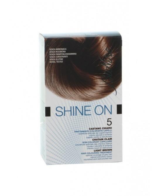 BioNike Shine On Trattamento Colorante Capelli Castano Chiaro 5 - farma-store.it