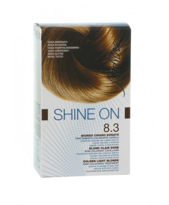 BioNike Shine On Trattamento Colorante Capelli Biondo Chiaro Dorato 8.3 - Farmabravo.it