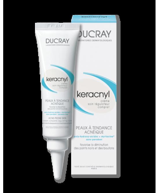 Ducray Keracnyl Crema Idratante Opacizzante Pelle Mista e Grassa 30 ml - La tua farmacia online