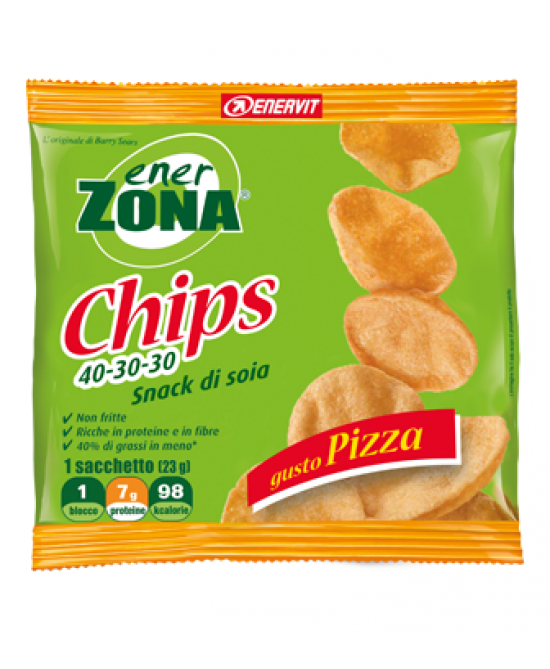 EnerZona Enervit Chips 40-30-30 Snack Di Soia Gusto Pizza 23g - Zfarmacia