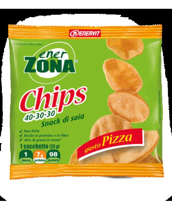 EnerZona Enervit Chips 40-30-30 Snack Di Soia Gusto Pizza 23g - Farmacia 33