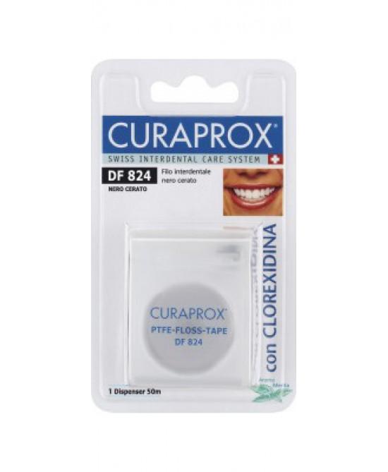 Curaden Curaprox DF824  Classico Floss Cerato Nero - Antica Farmacia Del Lago