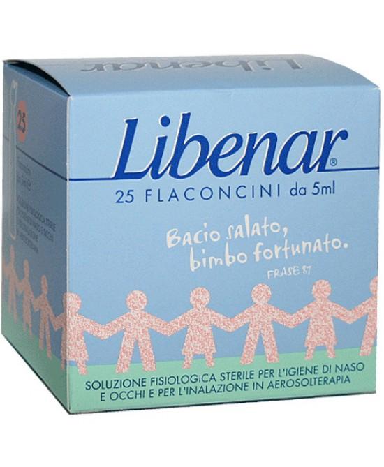 Libenar Flaconcini Soluzione Fisiologica Sterile 25 Flaconcini Da 5ml - FARMAEMPORIO