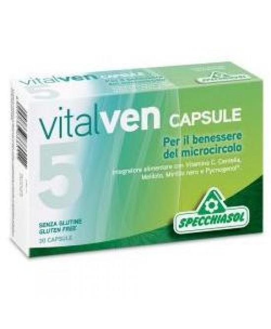 Specchiasol Vitalven 5 Integratore Benessere Microcircolo 30 Capsule - La tua farmacia online