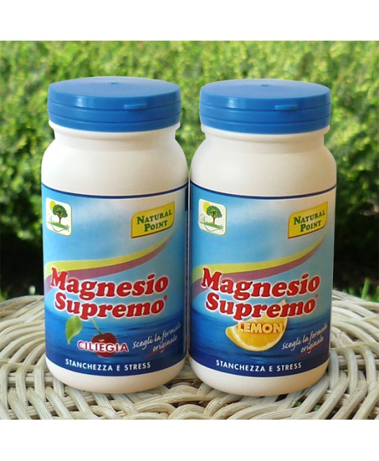 Natural Point Magnesio Supremo Gusto Lemon  Integratore Alimentare 150g - Farmacento