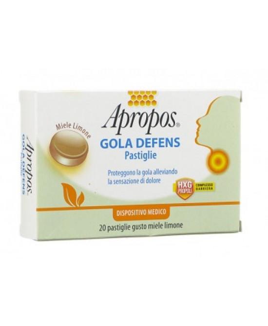 Apropos Gola Defens Miele E Limone 20 Pastiglie - FARMAEMPORIO