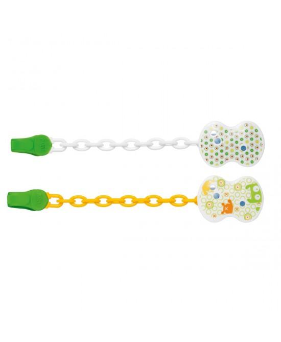 Chicco Clip Con Catenella Colore Neutro 1 Pezzo - Farmacento
