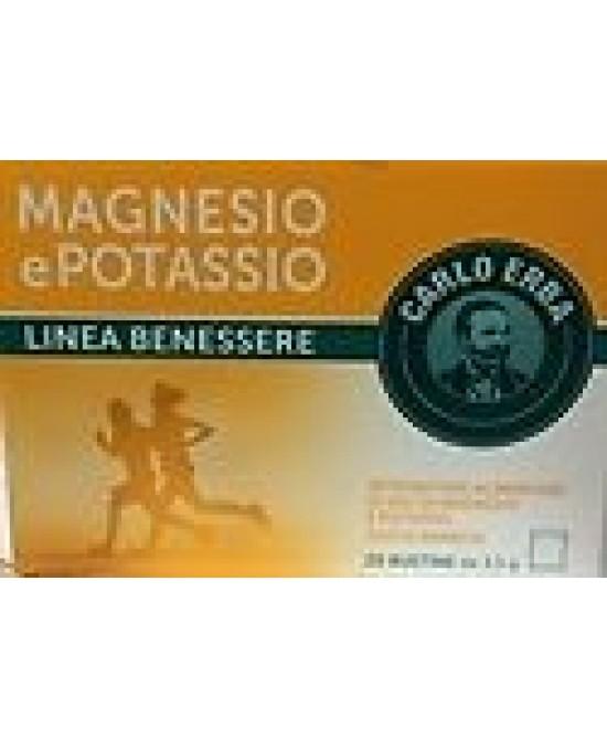 Carlo Erba Magnesio Potassio 20 bustine - Farmacento