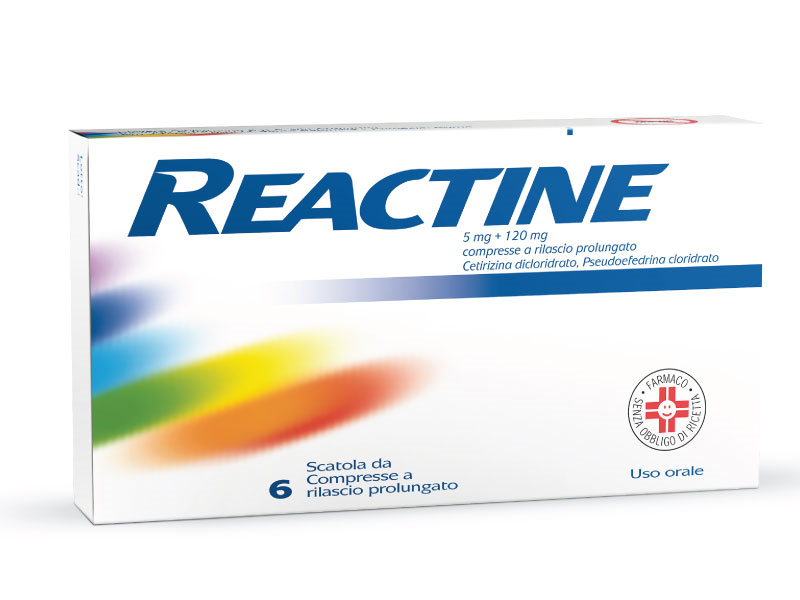 REACTINE*6CPR 5MG+120MG RP - Farmawing
