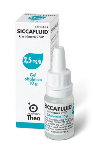 SICCAFLUID*GEL OFT 10G 2,5MG/G - Farmacento