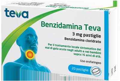 BENZIDAMINA TEVA*20PASTL 3MG - Farmaciaempatica.it