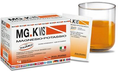 MGK Vis Integratore Magnesio e Potassio Gusto Arancia 14 Bustine - La tua farmacia online