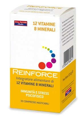 REINFORCE 12 VITAMINE + 8 MINERALI 30 COMPRESSE MASTICABILI - Zfarmacia
