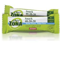 Enerzona Snack Cocco Ricoperto di Cioccolato al Latte Barretta 27 g - Farmalilla