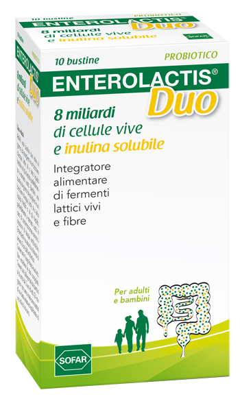 Sofar Enterolactis Duo Integratore Fermenti Lattici Vivi 10 Bustine - La tua farmacia online