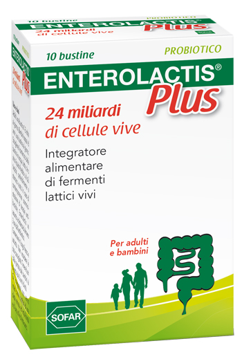 ENTEROLACTIS PLUS POLVERE 10 BUSTINE - Farmawing